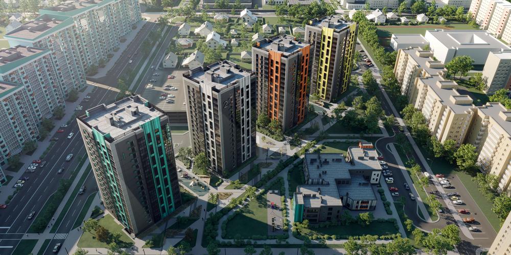 Старт бронирования 1-, 2- и 3-комнатных квартир в жилом комплексе «4 сезона»